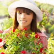 Young woman gardening — Stock Photo