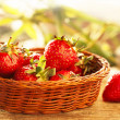 Home Grown Strawberries in Baskets — Foto Stock