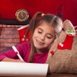 Little girl at Christmas time — Stock Photo #35281965