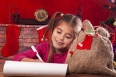 Little girl at Christmas time — Stock fotografie