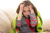 Child headache — Stock Photo