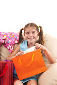 Pleasantly surprised girl — Stock Photo