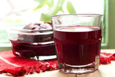 Fresh juice of red beets — Stock Photo