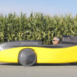 Full Profile of Min Recumbent Velomobile — Stock Photo #13162544