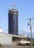 Rural Silo with Transmission Antennas — Stock Photo