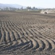 Deep Furrows in a Plowed Field — Stock Photo