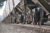 Vagoni ferroviari su pista — Foto Stock