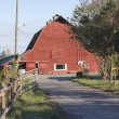 North American Red Barn — Stock Photo