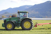 Tractor Cuts Grass — Stock Photo