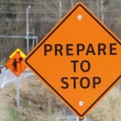 Stock Photo: Construction Road Signs