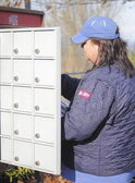 Rural Canadian Postal Worker — Stock Photo