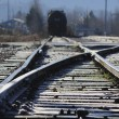 Stock Photo: Frost on Railway Tracks