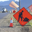 Stock Photo: Construction Sign