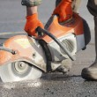 Asphalt Cutter - Stock Photo