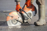 Asphalt Cutter — Stock Photo