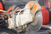 Asphalt Cutter in Pick-Up Truck — Stock Photo