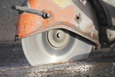 Asphalt Cutter Blade — Stock Photo
