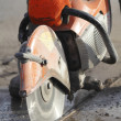 Profile View of Asphalt Cutter — Stock Photo