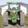 Tractor in Driveway — Stock Photo