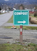 Compost Sign — Stock Photo