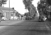 Puesto de control en la frontera alemana de bélgica en 1940 — Foto de Stock