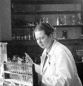 German Female Scientist — Stock Photo
