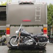 Stock Photo: Motorcycle RV Hitch
