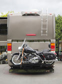 Motorcycle RV Hitch — Stock Photo