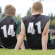 Boys Watching Football — Stock Photo