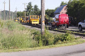 Rail Line Maintenance Crew — Stock Photo