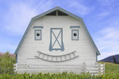 Smiling Animated Barn — Stock Photo