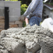 wet cement — Stock Photo