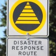 Stock Photo: Disaster Response Route Sign
