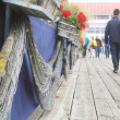 Promenade or Walkway in Fishing Village — Stock Photo