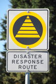Disaster Response Route Sign — Stock Photo