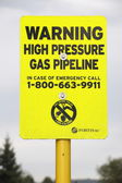 High Pressure Gas Pipeline Warning — Stock Photo