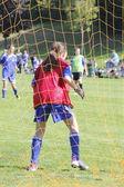 Female Soccer Goalkeeper — Stock Photo