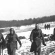 German Soldiers Patrol the Seigfried Line — Stock Photo
