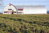 Modern Steel Fabricated Farm Building — Stock Photo