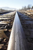 Single Railway Track — Stock Photo