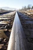Vía férrea única — Foto de Stock