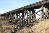 Canadian Train Trestle — Stock Photo