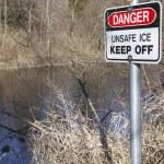 Thin Ice Signage — Stock Photo #40109455