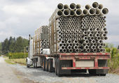 Long Haul Truck and Conduit — Stock Photo