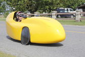 Velomobile, Bicycle Car or Recumbent Bike — Stock Photo