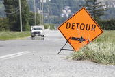 Detour Sign — Stock Photo
