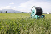 Hose and Reel for Farm Irrigation — Stock Photo