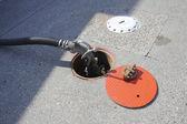 ガソリン スタンド用ポンプ ハンドル — ストック写真