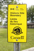 Parks Canada Historic Boundary Sign — Stock Photo