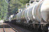 Vlak přepravující hydroxidu sodného — Stock fotografie